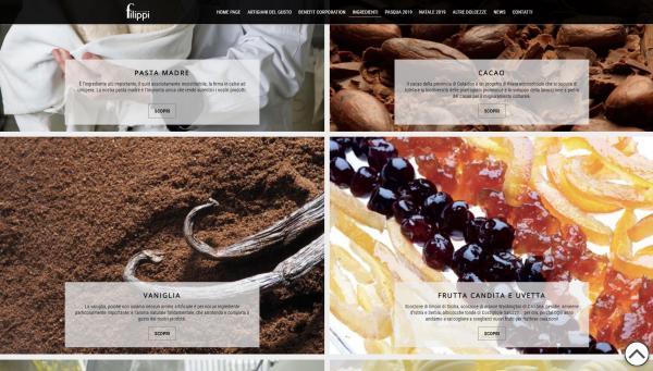 Gli ingredienti - Grosso risalto alle immagini dei prodotti genuini